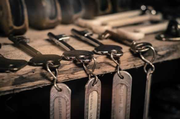 antique close up equipment hanging