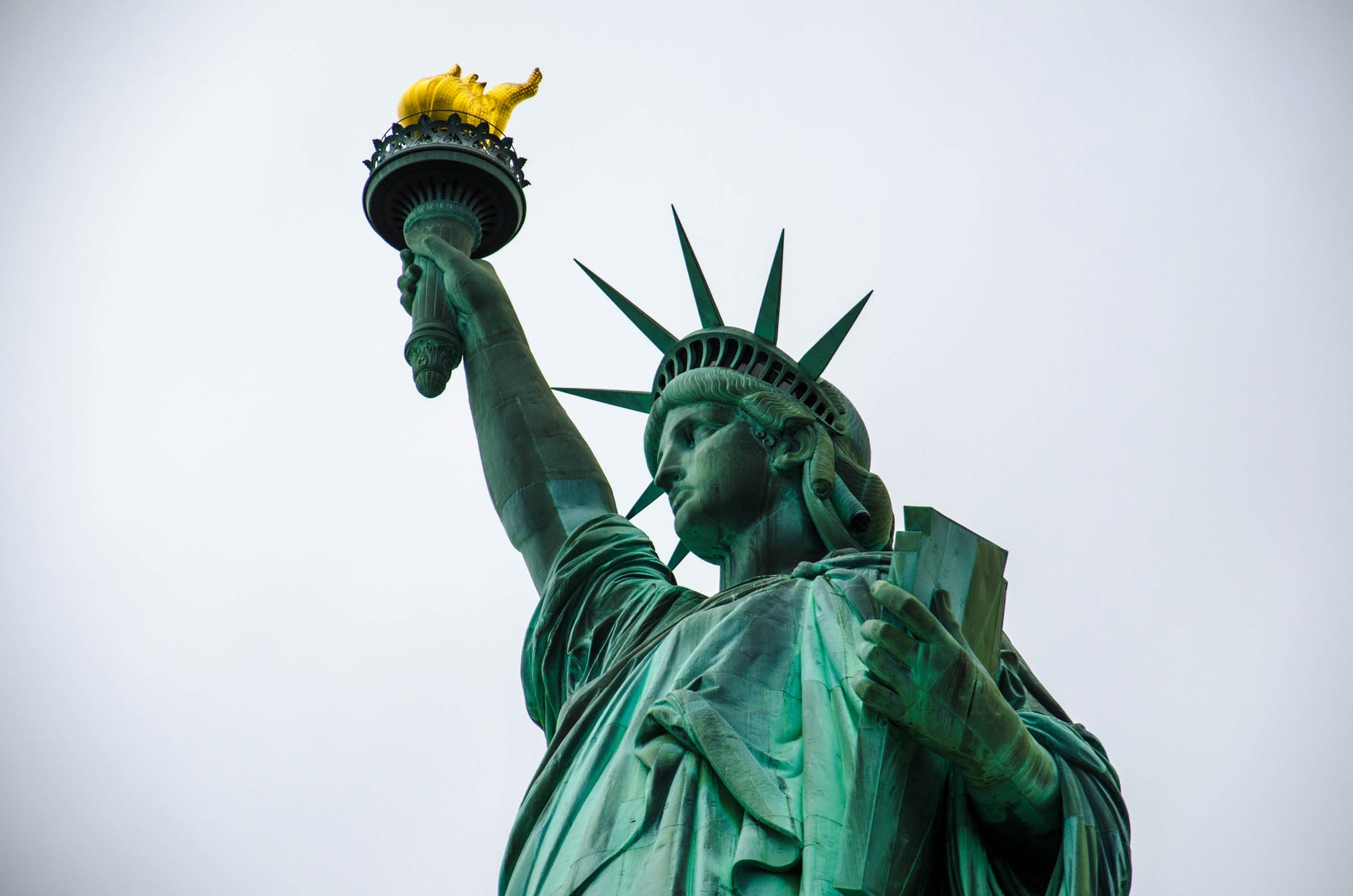 worms eye view photography of statue of liberty