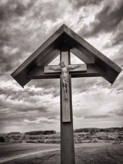 brown wooden crucifix photography