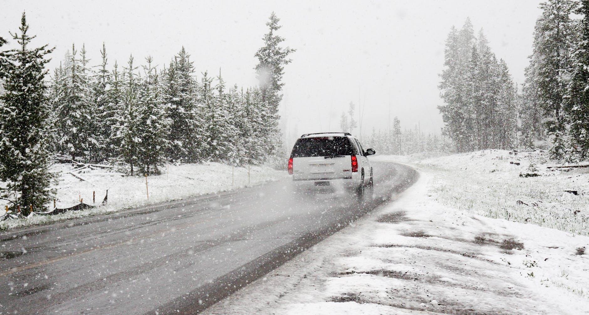 car road snow winter
