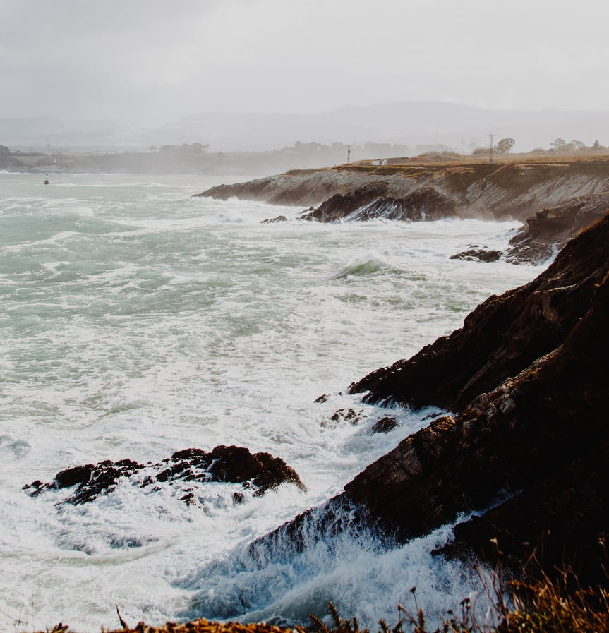 sea on a stormy weather