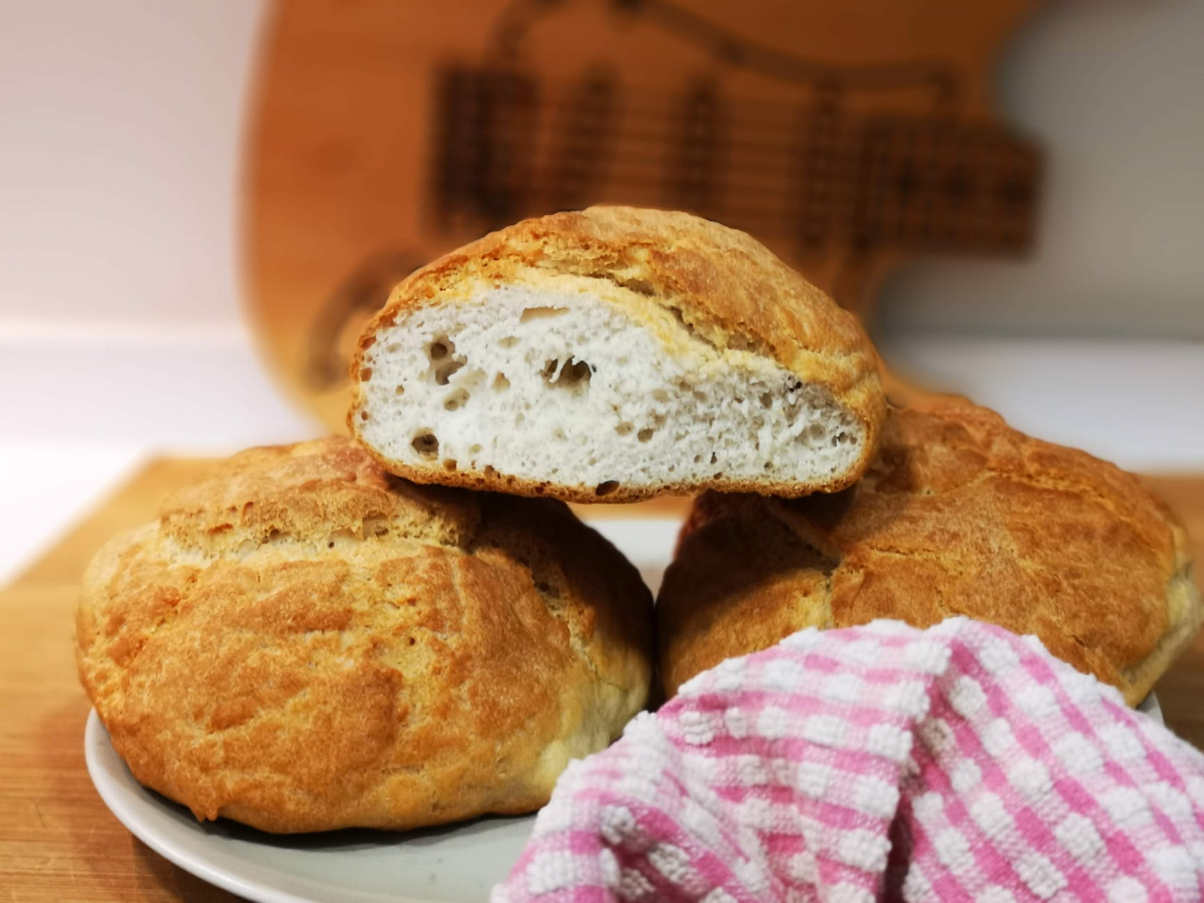 photo of breads on plate