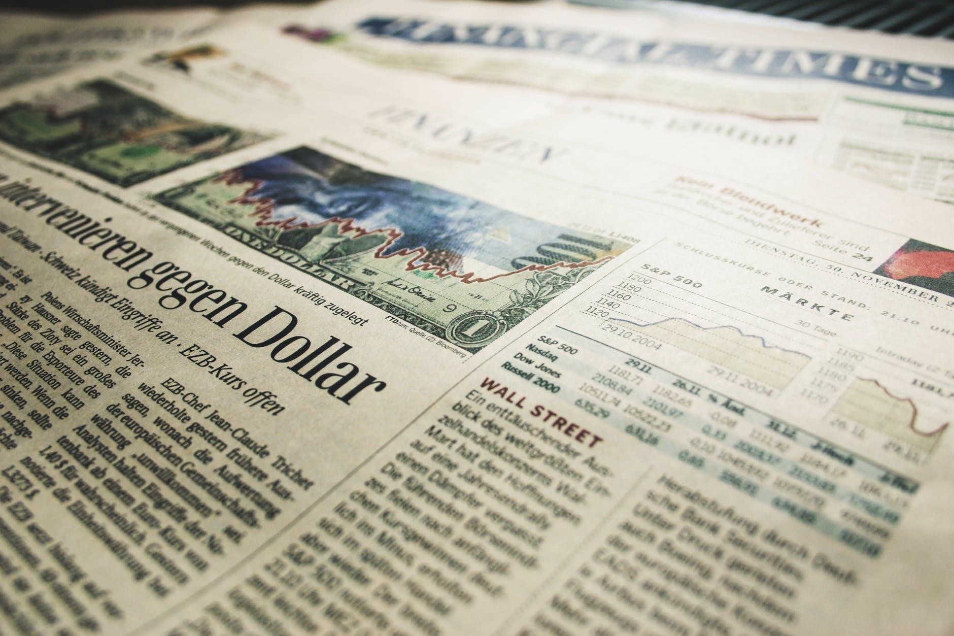 finance news newspaper stocks